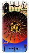 Sun Face Stylized IPhone Case