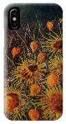 Sun Flowers And Physialis  IPhone Case