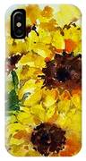 Sun Flowers IPhone Case