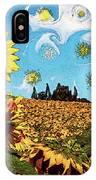 Sun Flowers Field IPhone Case