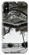 Sun Gleaming Through The Snow IPhone Case