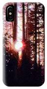 Sun In The Forest Two  IPhone Case