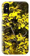 Sun-kissed Golden Leaves 2 IPhone Case