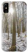 Sun Peaking Through The Trees - Fairmount Park IPhone Case