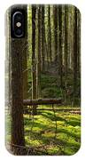 Sun Rays In Forest IPhone Case