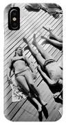 Sun Tanning At The Deligny Swimming Pool, Paris, June, 1963 IPhone Case