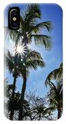 Sun Through Smathers Beach Palms IPhone Case
