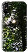 Sun Through Trees In Forest IPhone Case