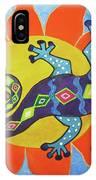 Sunbathing Lizards IPhone Case