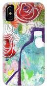 Sunday Market Flowers 2- Art By Linda Woods IPhone Case