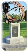 Sundial At American Legion Post, Indianapolis, Indiana IPhone Case