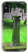 Sundial In St Leonard's Churchyard - Thorpe IPhone Case