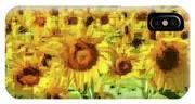 Sunflower Edges IPhone Case