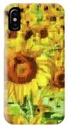 Sunflower Edges IPhone Case