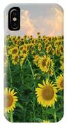 Sunflower Faces At Sunset IPhone Case