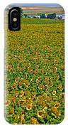 Sunflower Farm In Northwest North Dakota  IPhone Case