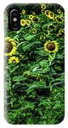 Sunflower Field Panorama IPhone Case