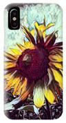 Sunflower In Deep Tones IPhone Case