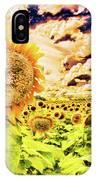 Sunflower Storm IPhone Case