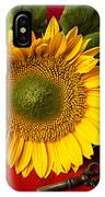 Sunflower With Old Key IPhone Case