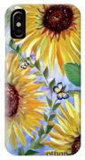 Sunflowers And Butterflies IPhone Case