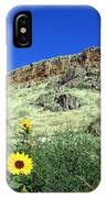 Sunflowers And Cliffs IPhone Case