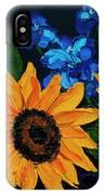 Sunflowers And Delphinium IPhone Case