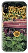 Sunflowers And Tractor IPhone Case