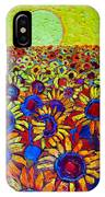 Sunflowers Field At Sunrise IPhone Case