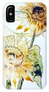 Sunflowers II IPhone Case by Monique Faella