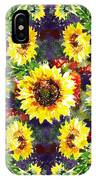 Sunflowers Impressionism Pattern IPhone Case