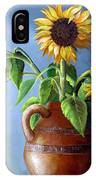 Sunflowers In Vase IPhone Case