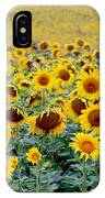 Sunflowers On A Cloudy Day IPhone Case