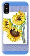 Sunflowers On Baby Blue IPhone Case