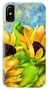 Sunflowers On Holiday IPhone Case