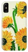 Sunflowers Using Palette Knife IPhone Case