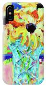 Sunflowers With Trellis Collage IPhone Case