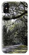 Sunlight And Shadows On Live Oaks IPhone Case
