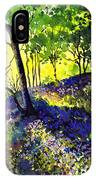 Sunlit Bluebell Wood IPhone Case