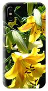 Sunlit Yellow Lilies Art Prints Botanical Giclee Baslee Troutman IPhone Case