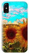 Sunny Faces- Sunflower Art IPhone Case