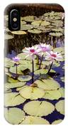 Sunny Waterlilies IPhone Case