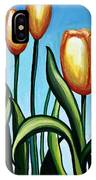 Sunny Yellow Tulips IPhone Case