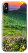 Sunrise Behind Goat Wall IPhone Case