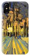Sunrise Forest Modern Impressionist Landscape Painting  IPhone Case