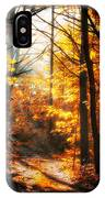 Sunrise Mist Through The Trees IPhone Case