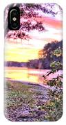 Sunrise Over A Misty Pond IPhone Case