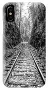 Sunrise Rails Black And White Vertical Panorama IPhone Case