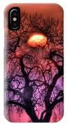 Sunrise Through The Foggy Tree IPhone Case