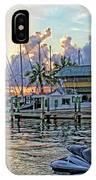 Sunset At The Marina IPhone Case